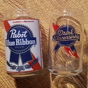 Pabst Blue Ribbon & Drink Wisconsinbly Can Glass